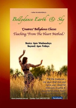 """8 x Creatress """"Bellybeyond"""" Class - 6PM FRIDAYS - at Legacy Hall, Armidale. Resumes in Spring, Tbc."""