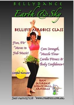 "8 x Creatress ""Bellyfit"" Aerobics Class - 10am Saturdays - Resumes in Spring, Tbc."