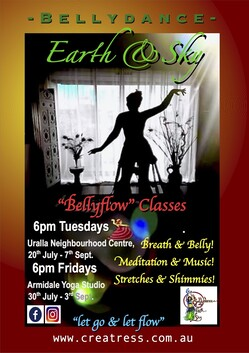 """6 x Creatress """"Bellyflow"""" Classes 6pm FRIDAYS, Now in ARMIDALE! : )"""