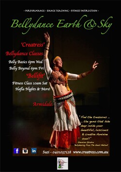 """1 x ANY Creatress Casual """"Bellydance"""" Class!  : )"""